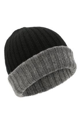 Мужская кашемировая шапка FEDELI черного цвета, арт. 4UI07305   Фото 1