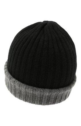 Мужская кашемировая шапка FEDELI черного цвета, арт. 4UI07305   Фото 2