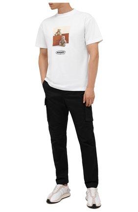 Мужская хлопковая футболка palm angels x missoni PALM ANGELS белого цвета, арт. PMAA001F21JER0310110   Фото 2 (Рукава: Короткие; Длина (для топов): Стандартные; Материал внешний: Хлопок; Принт: С принтом; Стили: Гранж)