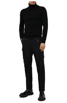 Мужской водолазка из шерсти и кашемира DANIELE FIESOLI черного цвета, арт. DF 0033 | Фото 2