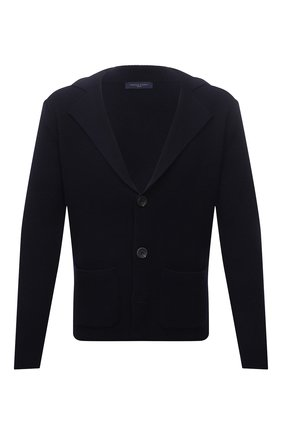 Мужской шерстяной пиджак DANIELE FIESOLI темно-синего цвета, арт. DF 0114 | Фото 1