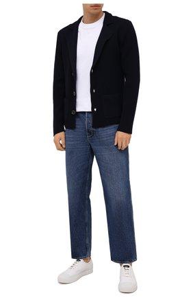 Мужской шерстяной пиджак DANIELE FIESOLI темно-синего цвета, арт. DF 0114 | Фото 2