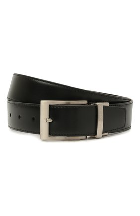 Мужской кожаный ремень CANALI черного цвета, арт. 50C/KA00322 | Фото 1 (Случай: Формальный)
