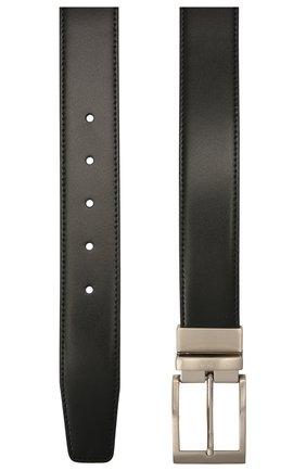 Мужской кожаный ремень CANALI черного цвета, арт. 50C/KA00322 | Фото 2 (Случай: Формальный)