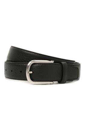 Мужской кожаный ремень CANALI черного цвета, арт. 50C/KA00324 | Фото 1 (Случай: Формальный)