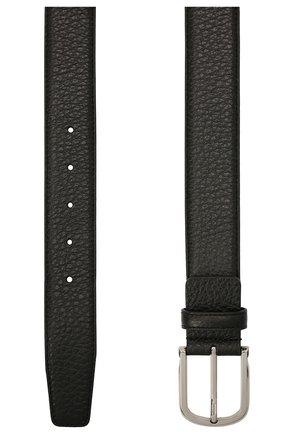 Мужской кожаный ремень CANALI черного цвета, арт. 50C/KA00324 | Фото 2 (Случай: Формальный)