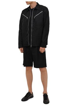 Мужские кожаные кеды andy SAINT LAURENT черного цвета, арт. 606833/0ZS00 | Фото 2