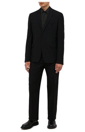 Мужская шелковая рубашка SAINT LAURENT черного цвета, арт. 646850/Y2D47 | Фото 2