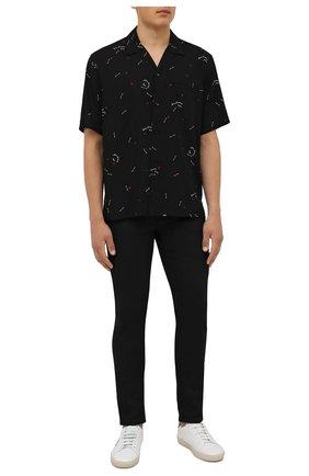 Мужская рубашка из вискозы SAINT LAURENT черного цвета, арт. 531956/Y2D48 | Фото 2
