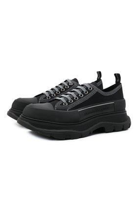 Мужские текстильные кроссовки ALEXANDER MCQUEEN черного цвета, арт. 662683/W4MV8 | Фото 1