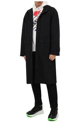 Мужские комбинированные кроссовки ALEXANDER MCQUEEN черного цвета, арт. 662689/WIAB3 | Фото 2