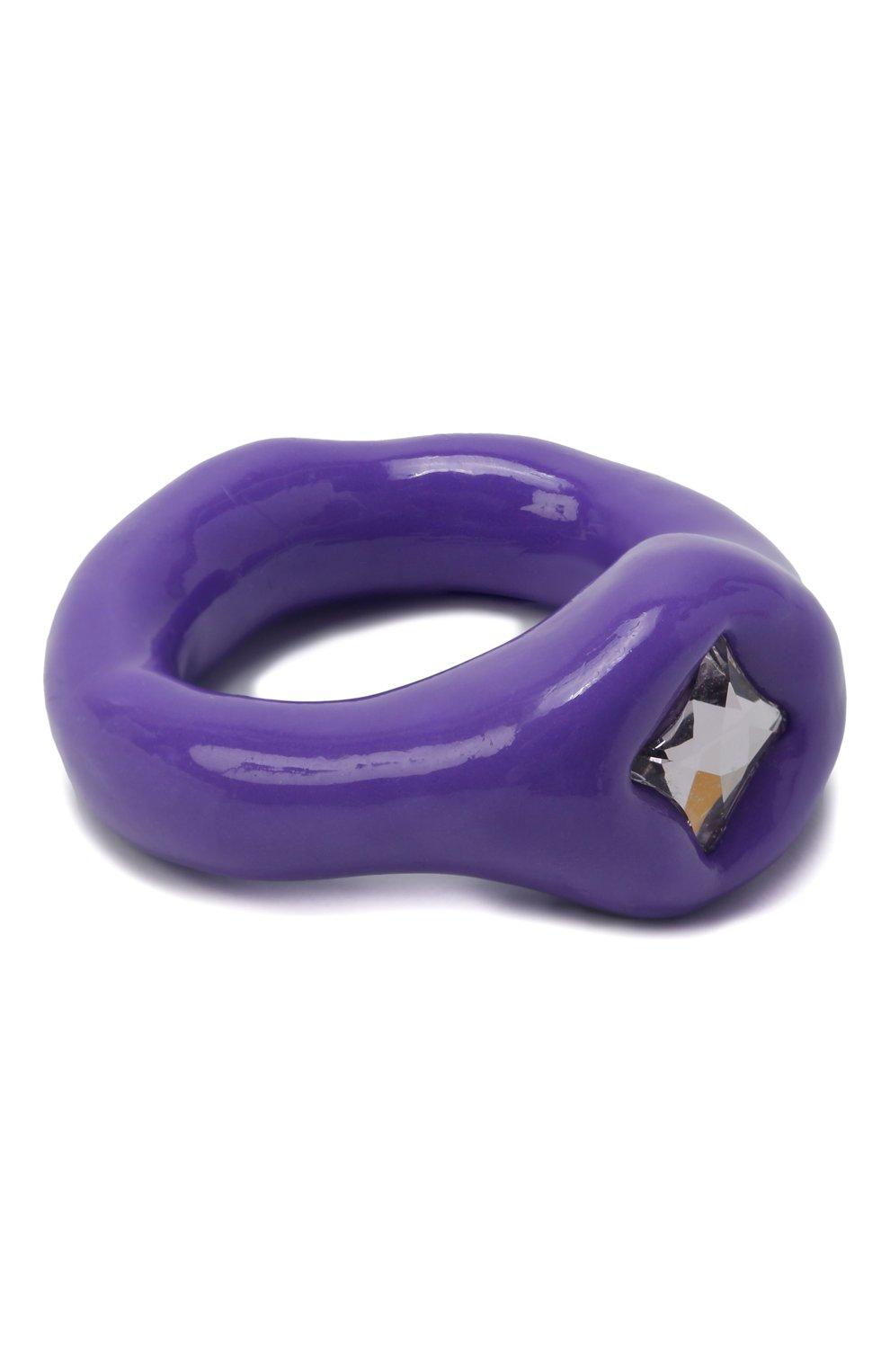 Женское кольцо LILI ARCHIVE фиолетового цвета, арт. RM8C18S14 | Фото 1 (Материал: Смола)