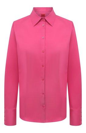 Женская хлопковая рубашка HUGO фуксия цвета, арт. 50416895 | Фото 1