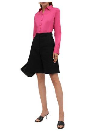 Женская хлопковая рубашка HUGO фуксия цвета, арт. 50416895 | Фото 2
