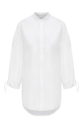 Женская хлопковая рубашка BOSS белого цвета, арт. 50454037 | Фото 1