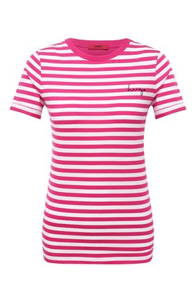 Женская хлопковая футболка HUGO розового цвета, арт. 50453793 | Фото 1