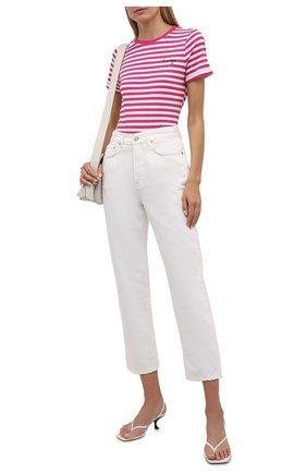 Женская хлопковая футболка HUGO розового цвета, арт. 50453793 | Фото 2
