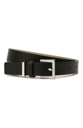 Женский кожаный ремень BOSS черного цвета, арт. 50455841 | Фото 1