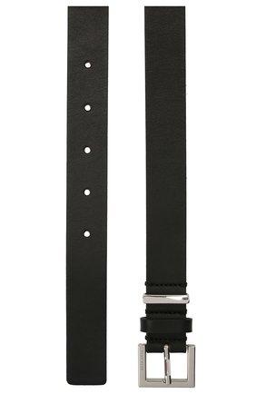 Женский кожаный ремень BOSS черного цвета, арт. 50455841 | Фото 2