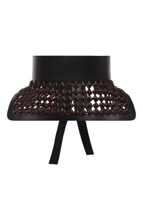 Женский кожаный пояс LOEWE черного цвета, арт. S540Y20X08   Фото 1 (Кросс-КТ: Широкие)