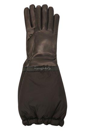 Женские перчатки GIORGIO ARMANI черного цвета, арт. 794239/1A216 | Фото 1