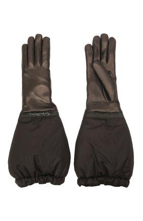 Женские перчатки GIORGIO ARMANI черного цвета, арт. 794239/1A216 | Фото 2