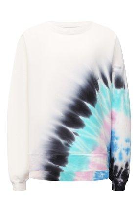 Женский хлопковый свитшот ELECTRIC&ROSE белого цвета, арт. LFCV06-BEAM | Фото 1 (Материал внешний: Хлопок; Рукава: Длинные; Длина (для топов): Стандартные; Стили: Спорт-шик; Женское Кросс-КТ: Свитшот-одежда)