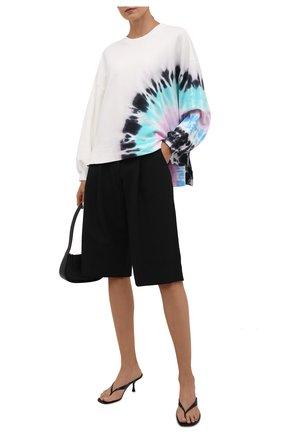 Женский хлопковый свитшот ELECTRIC&ROSE белого цвета, арт. LFCV06-BEAM | Фото 2 (Материал внешний: Хлопок; Рукава: Длинные; Длина (для топов): Стандартные; Стили: Спорт-шик; Женское Кросс-КТ: Свитшот-одежда)