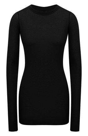 Женская лонгслив из вискозы и шелка RICK OWENS черного цвета, арт. RP02A7202/RC   Фото 1