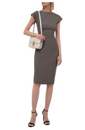 Женское платье из хлопка и вискозы RICK OWENS серого цвета, арт. RP02A7525/GG   Фото 2