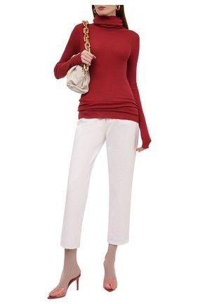Женская шерстяная водолазка RICK OWENS красного цвета, арт. RP02A7614/RIBM   Фото 2