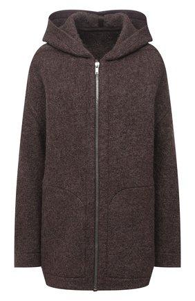 Женская куртка RICK OWENS коричневого цвета, арт. RP02A7722/WBK | Фото 1 (Рукава: Длинные; Длина (верхняя одежда): До середины бедра; Материал внешний: Шерсть; Стили: Минимализм; Кросс-КТ: Куртка)