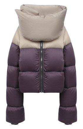 Женская пуховая куртка RICK OWENS темно-сиреневого цвета, арт. RP02A7773/NZD3   Фото 1