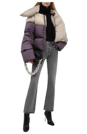 Женская пуховая куртка RICK OWENS темно-сиреневого цвета, арт. RP02A7773/NZD3   Фото 2
