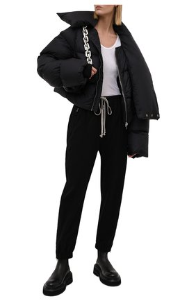 Женская пуховая куртка RICK OWENS черного цвета, арт. RP02A7773/NZD3   Фото 2