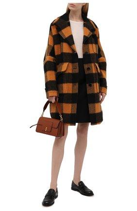 Женское шерстяное пальто MM6 оранжевого цвета, арт. S52AA0113/S53979   Фото 2