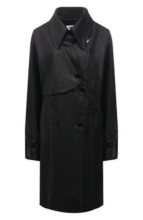 Женский тренч MM6 черного цвета, арт. S52AH0049/S53057   Фото 1