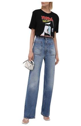 Женская хлопковая футболка MM6 черного цвета, арт. S52GC0211/S23955   Фото 2