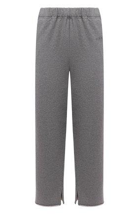 Женские хлопковые брюки MM6 серого цвета, арт. S52KA0323/S25337   Фото 1