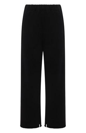Женские хлопковые брюки MM6 черного цвета, арт. S52KA0323/S25337   Фото 1