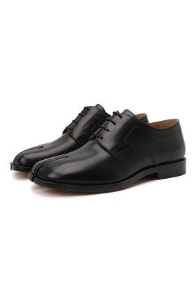 Женская кожаные туфли tabi MAISON MARGIELA черного цвета, арт. S34WQ0021/P3292   Фото 1
