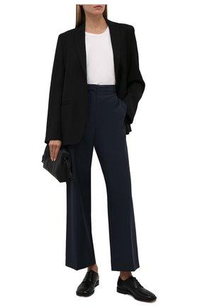 Женская кожаные туфли tabi MAISON MARGIELA черного цвета, арт. S34WQ0021/P3292   Фото 2
