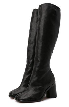Женские кожаные сапоги stivale artisanal MAISON MARGIELA черного цвета, арт. S34WW0057/P3753   Фото 1