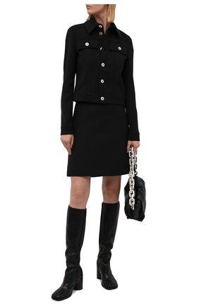 Женские кожаные сапоги stivale artisanal MAISON MARGIELA черного цвета, арт. S34WW0057/P3753   Фото 2