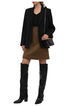 Женские кожаные ботфорты remine ISABEL MARANT черного цвета, арт. REMINE/CD0043-21A007S | Фото 2