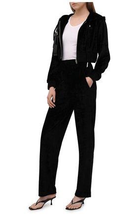 Женские брюки из вискозы GIVENCHY черного цвета, арт. BW50QM30ME | Фото 2