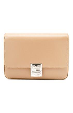 Женская сумка 4g medium GIVENCHY бежевого цвета, арт. BB50HCB15S   Фото 1 (Материал: Натуральная кожа; Размер: medium; Сумки-технические: Сумки через плечо; Ремень/цепочка: На ремешке)
