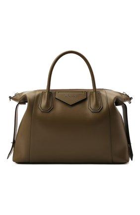 Женская сумка antigona soft medium GIVENCHY хаки цвета, арт. BB50F2B11E | Фото 1