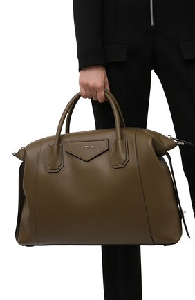 Женская сумка antigona soft medium GIVENCHY хаки цвета, арт. BB50F2B11E | Фото 2