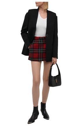 Женская шерстяная юбка REDVALENTINO красного цвета, арт. WR3RAC25/5Y8 | Фото 2 (Материал внешний: Шерсть; Длина Ж (юбки, платья, шорты): Мини; Материал подклада: Синтетический материал; Стили: Гламурный; Женское Кросс-КТ: Юбка-одежда)